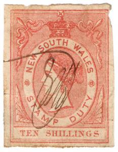 (I.B) Australia - NSW Revenue : Stamp Duty 10/-