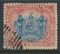 North Borneo SG 111 CTO perf 14 x 13½ see details  corrected inscription see...
