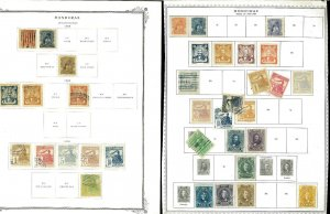 Honduras 1891-early 60's M & U on a Messy Mix of Remaindered Pages.
