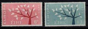 Ireland - Sc184-185 Europa Cept 1962 mint - CV $2