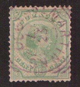 Netherlands Antilles  Curacao  #20   used  1892  Wilhelmina  12 1/2c