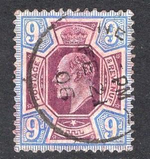 Great Britain  #136  1902  used Edward VII  9d