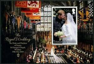 HERRICKSTAMP NEW ISSUES TRISTAN DA CUNHA Sc.# 1142 Wedding Prince Harry S/S