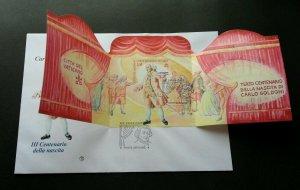 Vatican Theatre 2007 Art Movie Opera (miniature FDC) *rare *odd shape