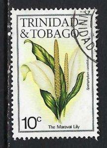 TRINIDAD & TOBAGO 393 VFU FLOWER 153C-1