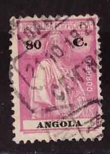 Angola  Scott 159A Used 80c perf 12x11.5 Ceres stamp