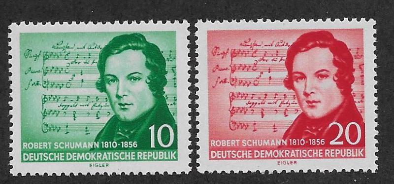 GERMANY - DDR SC# 295-96  FVF/MNH 1956