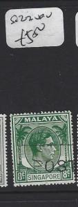 SINGAPORE  (PP1308B)  KGVI  8C    SG 22     VFU