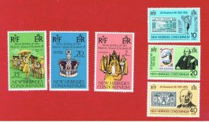 New Hebrides-British #214//267  MNH OG  2 sets  Free S/H