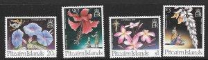 PITCAIRN ISLANDS SG458/61 1994 CHRISTMAS FLOWERS MNH