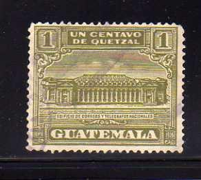 Guatemala RA2 Set U Post Office and Telegraph Building (H)