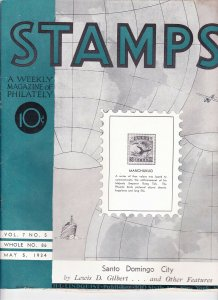 Stamps Weekly Magazine of Philately May 5, 1934 Stamp Collecting Magazine