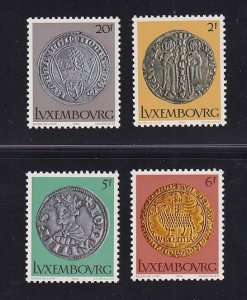 Luxembourg MNH 635-8 14th Century Coins 1974