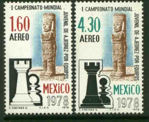 MEXICO C577-C578, World Chess Championship. MINT, NH. F-VF.