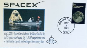 AFDCS SPACEX Dragon Capsule Resilience Return 5-2-2021 Gulf Mexico Panama City