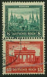 Germany 1930 Nothilfe Michel S76 Se-Tenant Zusammendruck 53227