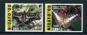 Niuafo'ou 2016 MNH Butterflies 2v Set Insects Swallowtail Butterfly EMS Stamps