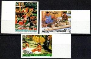 French Polynesia #444-6  MNH Imperf (X2339)