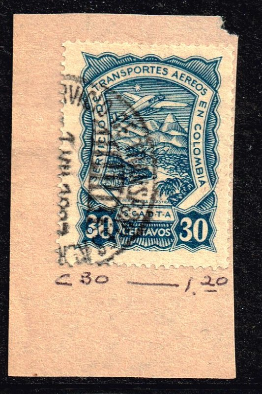 COLOMBIA STAMP USED STAMP COLLECTION LOT #M6