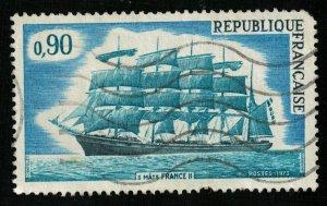 1973, French Sailing Ships, 0.9 Fr, MC #1839 (T-7138)