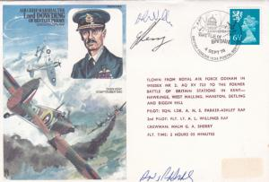 Lord Dowding 1976 36th anniv.of Battle of Britain Pilot Signed Cover