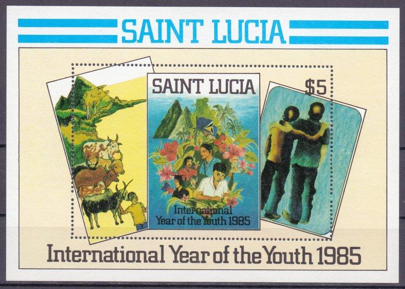St Lucia. 1985. bl43. Flora fauna. MNH.