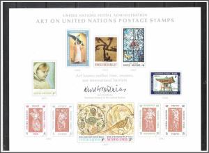 UN New York #SC2 Art Souvenir Card