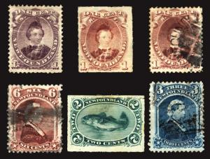 Newfoundland #32-49 1868-96 Mint & Used Lot 6 items