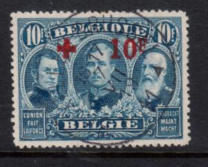 Belgium #B47 Very Fine+ Used With Ideal Brussels S.O.N. CDS Cancel