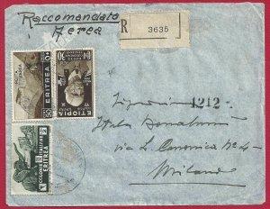 1937 Eritrea, Letter Stamped, Pa N° 18-23 Ethiopia N° 1-4