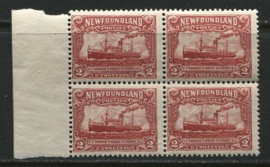 Newfoundland 1928 2 cent block of 4 unmounted mint NH