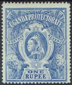 UGANDA 1898 QV LIONS 1R