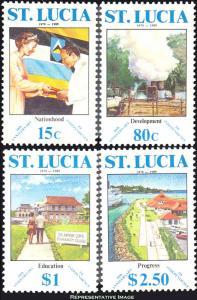 Saint Lucia Scott 932-935 Mint never hinged.