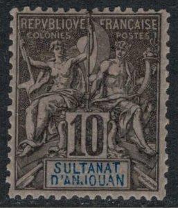 Anjouan #5*  CV $11.50 VF+ stamp