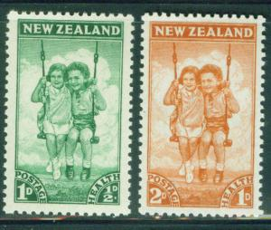 New Zealand Scott B20-21 1942 Children at play set MNH**
