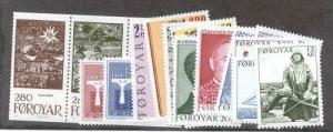 Faroe Islands Scott 102-120a Mint NH (1984 Year set)