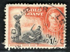 Gold Coast 1952 skeleton loose type CDS postmark scarce PURPLE47