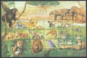 PK171 ANGOLA FAUNA WILD ANIMALS SAFARI ANGOLIAN BIG SH MNH STAMPS