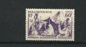 MAURITANIA  1938 - 40  60C  VIOLET      MH
