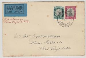 South West Africa 1936 1/2d 1d Officials Cover To Port Elizabeth J5369