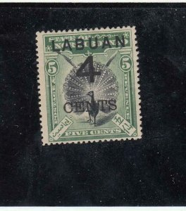 LABUAN (MK4417)  # 87  VF-MH 4 on 5cts  ARGUS PHEASANT SURCHARGED CAT VAL $55