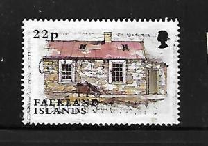 FALKLAND ISLANDS, 825, USED, OLD HOUSE