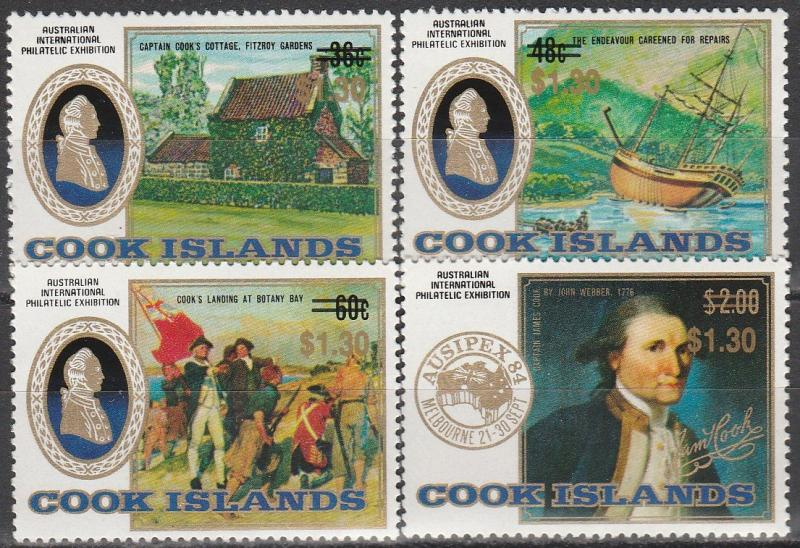 Cook Is #968-71 MNH CV $7.60 (A2549)