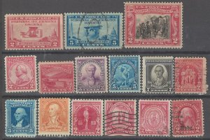 COLLECTION LOT OF # 1934 UNITED STATES 15 MH/USED STAMPS 1928+