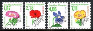 France 2666A-2666D, MNH. Flowers. Precanceled, 1998