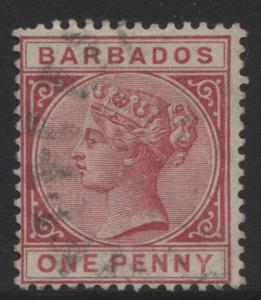 Barbados - Scott 61-  QV - Definitive -1882 - FU - Single 1p Stamp2