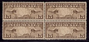US Stamp #C8 Block of 4 MINT NH SCV $19 (as singles)