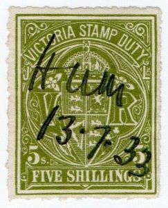 (I.B) Australia - Victoria Revenue : Stamp Duty 5/- (roulette)