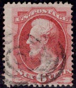 US Stamp #148 6c Carmine Lincoln USED SCV $22.50