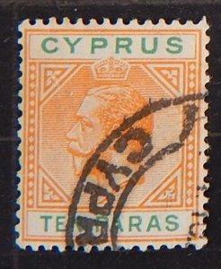 Cyprus, 1921-1923 King George V, SC #72